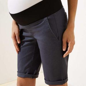 NWT LOFT Maternity Bermuda Roll Shorts